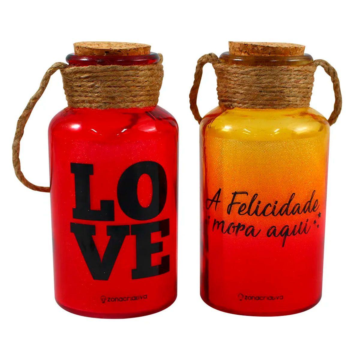 Kit Luminária de Mesa 2 unidades Felicidade Love