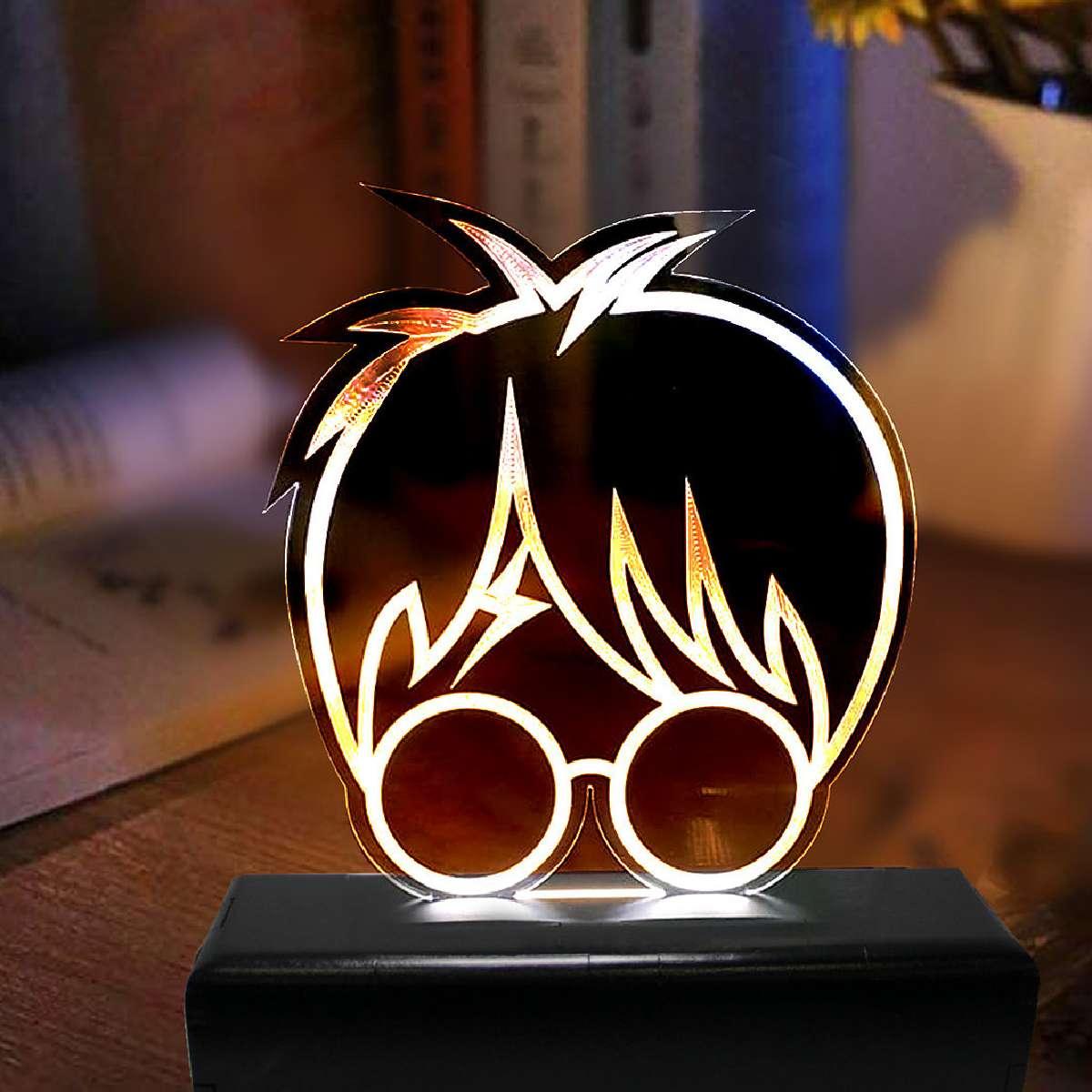 Luminária de LED Acrílico Harry Potter Cicatriz
