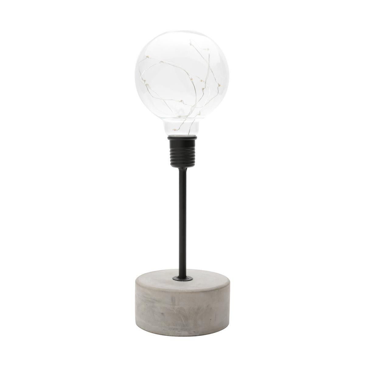 Luminária de Mesa Decorativa Led Concreto Base Redonda