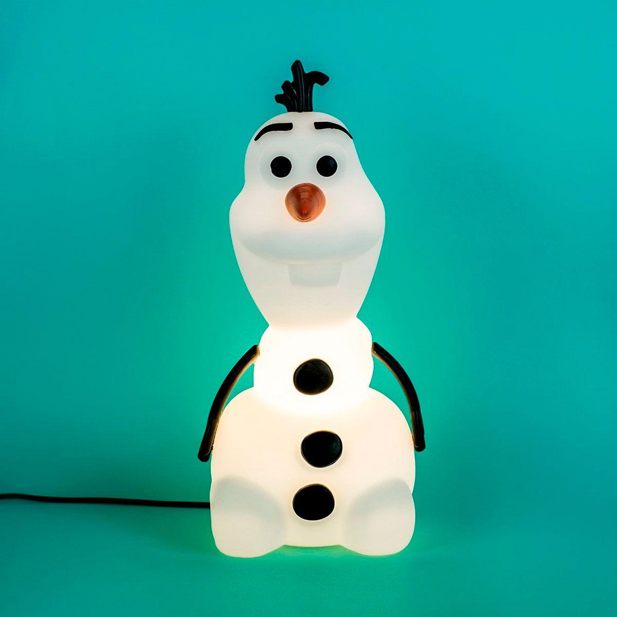 Luminária de Mesa Olaf Boneco de Neve - Frozen