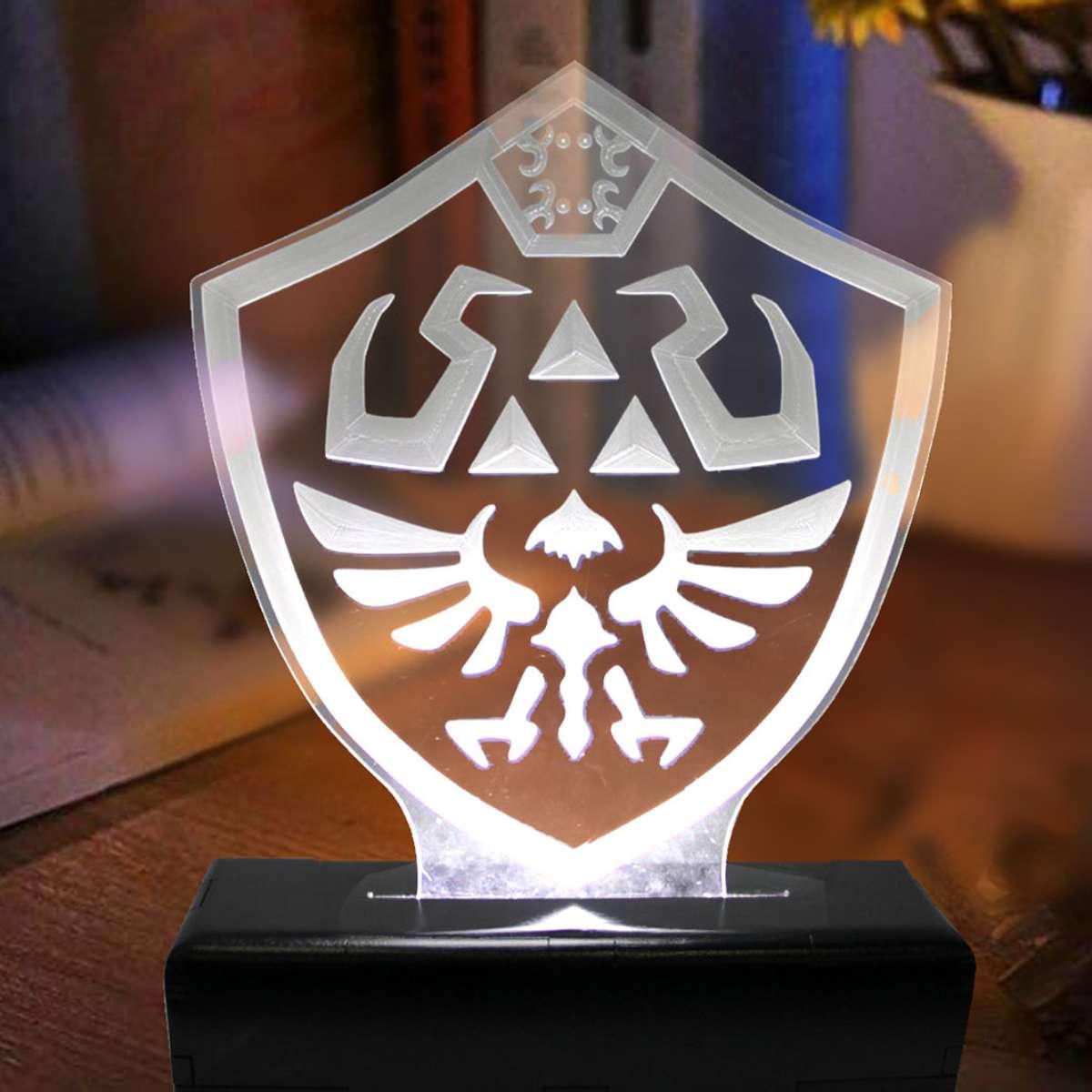 Luminaria em Acrilico Escudo Zelda