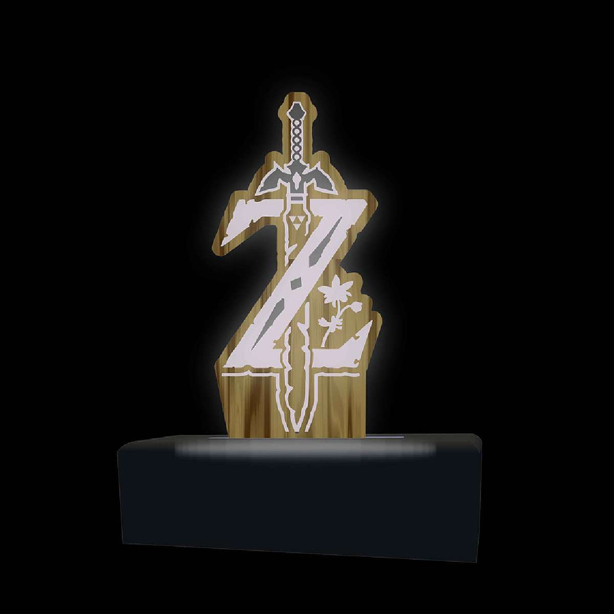 Luminária em Acrílico Logo Zelda