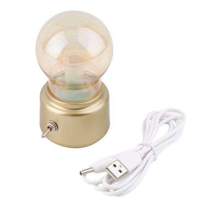 Luminária Lâmpada LED Dourado - Sem Fio e Bateria Recarregável