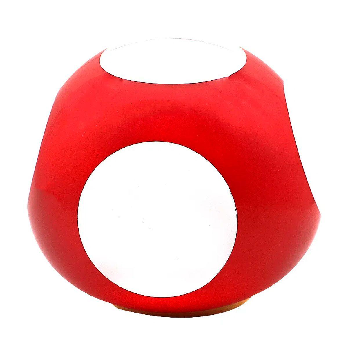 Luminária Mini Cogumelo Vermelho Super Mario Bros