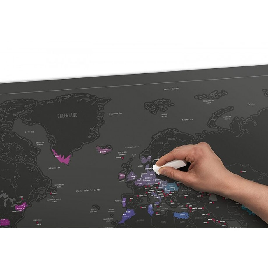Mapa Mundi Raspadinha Black Edition - Fun Trip