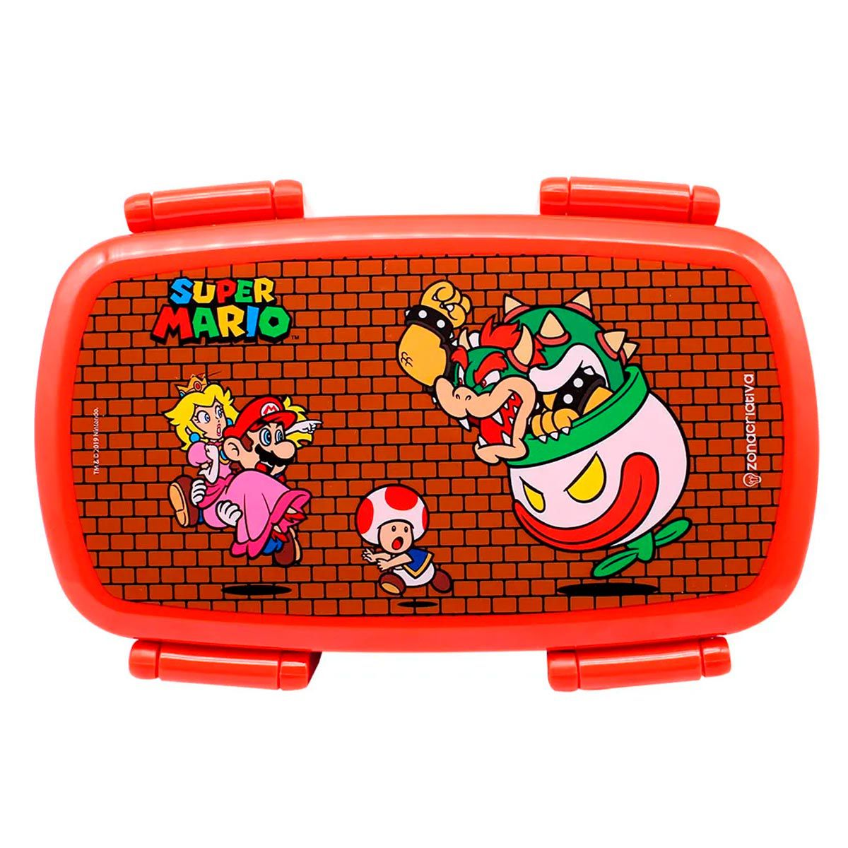 Marmita Lancheira com Talheres Super Mario 750 ml