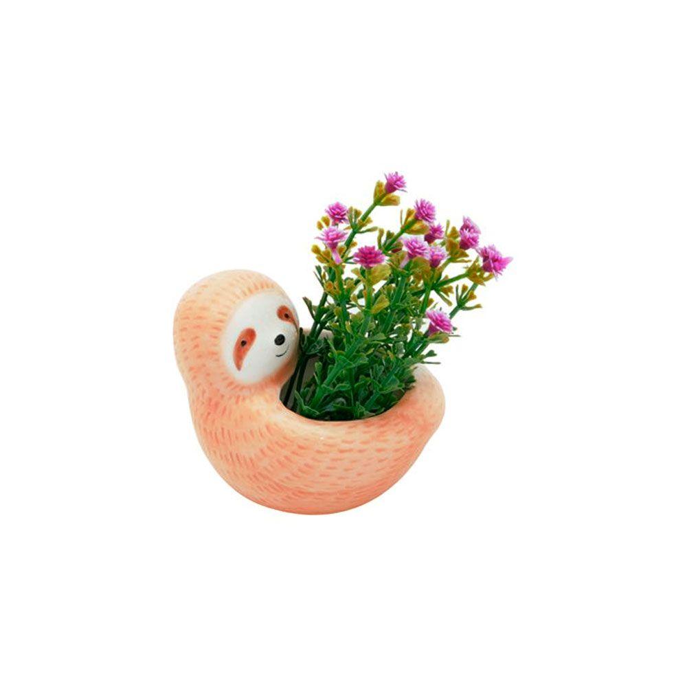 Mini Cachepot Vaso Decor Bicho Preguiça