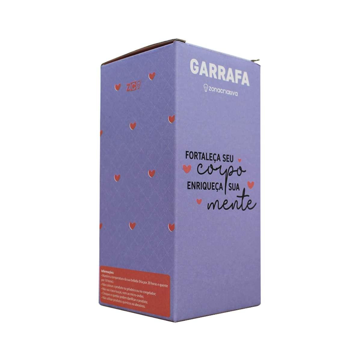 Mini Garrafa Térmica com Caneca Corpo e Mente Mantra