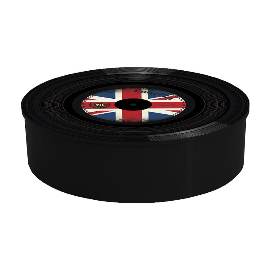Organizador Caixa de Metal Disco Vinil Reino Unido