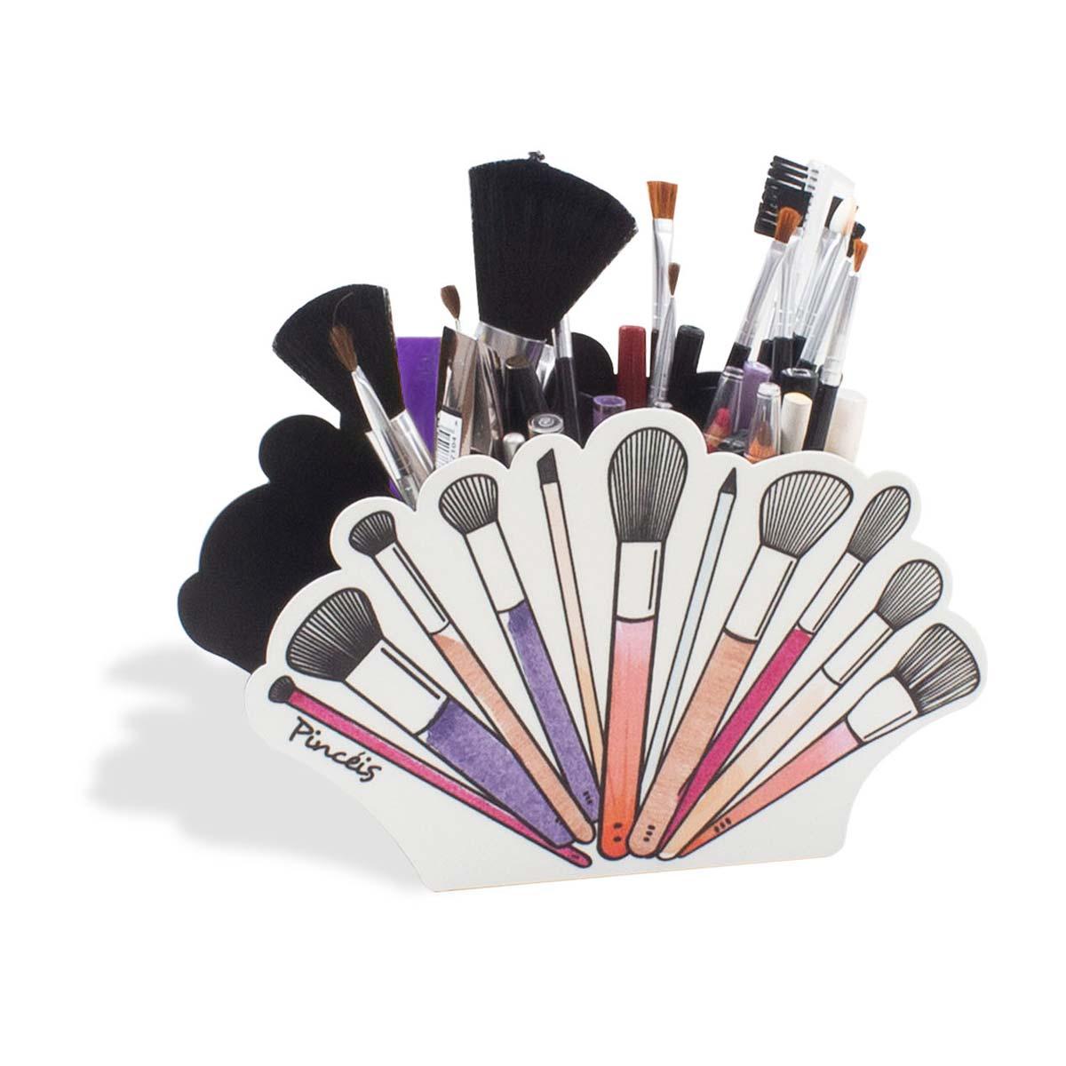 Organizador Porta Maquiagem e Pincéis Beauty