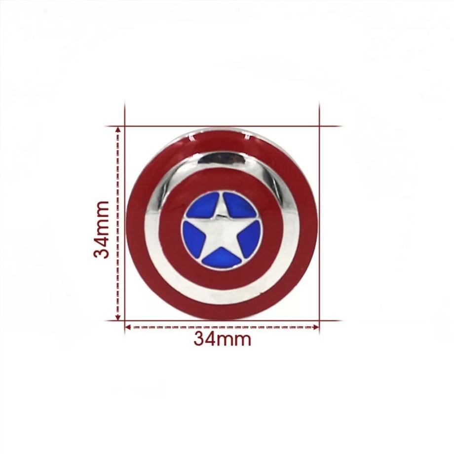 Pen Drive 8gb Escudo Capitão América Marvel