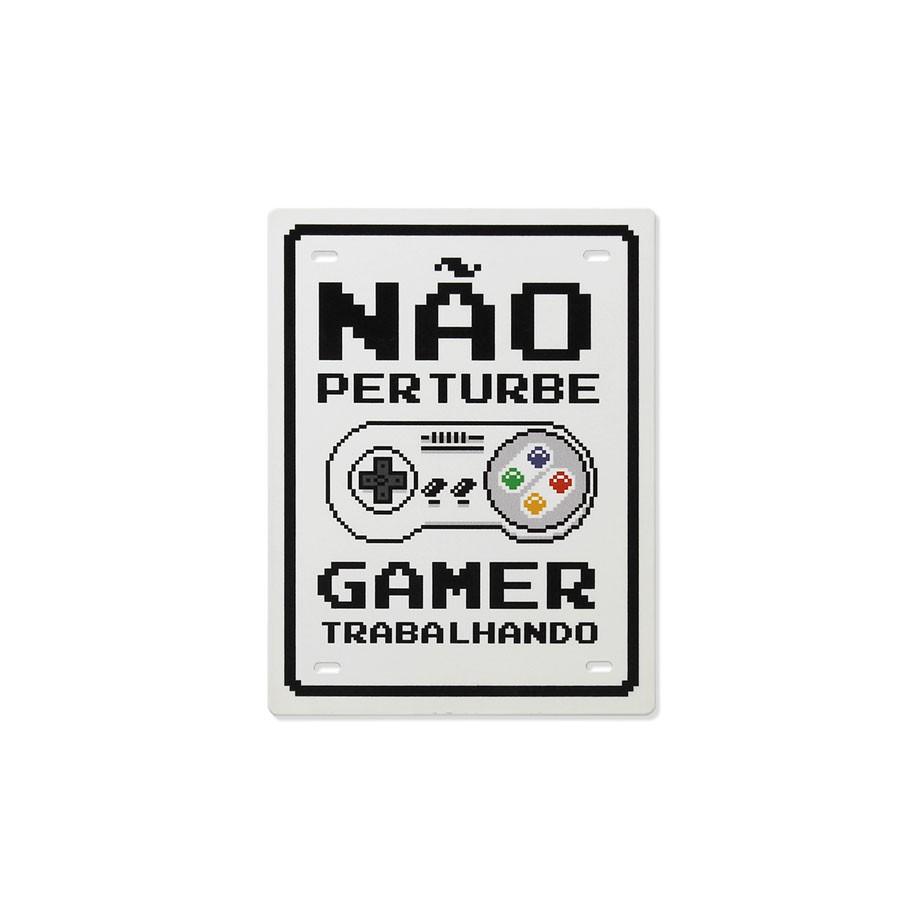 Placa de Aço Não Perturbe Gamer Trabalhando 8 Bits