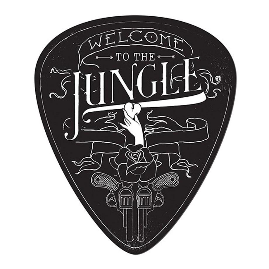 Placa de Parede Palheta Welcome To The Jungle
