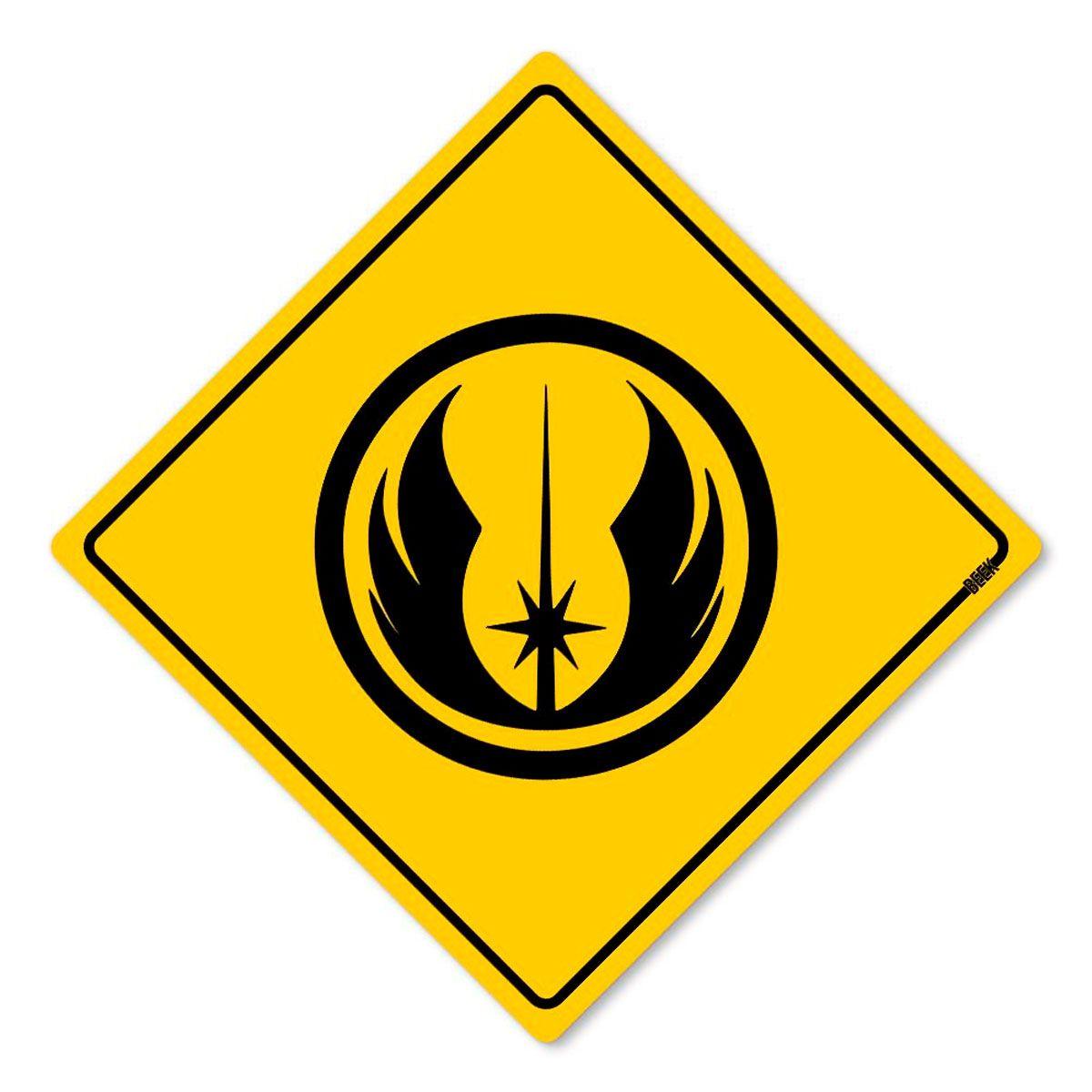 Placa Decorativa 30x30 Sinalização Jedi Star Wars