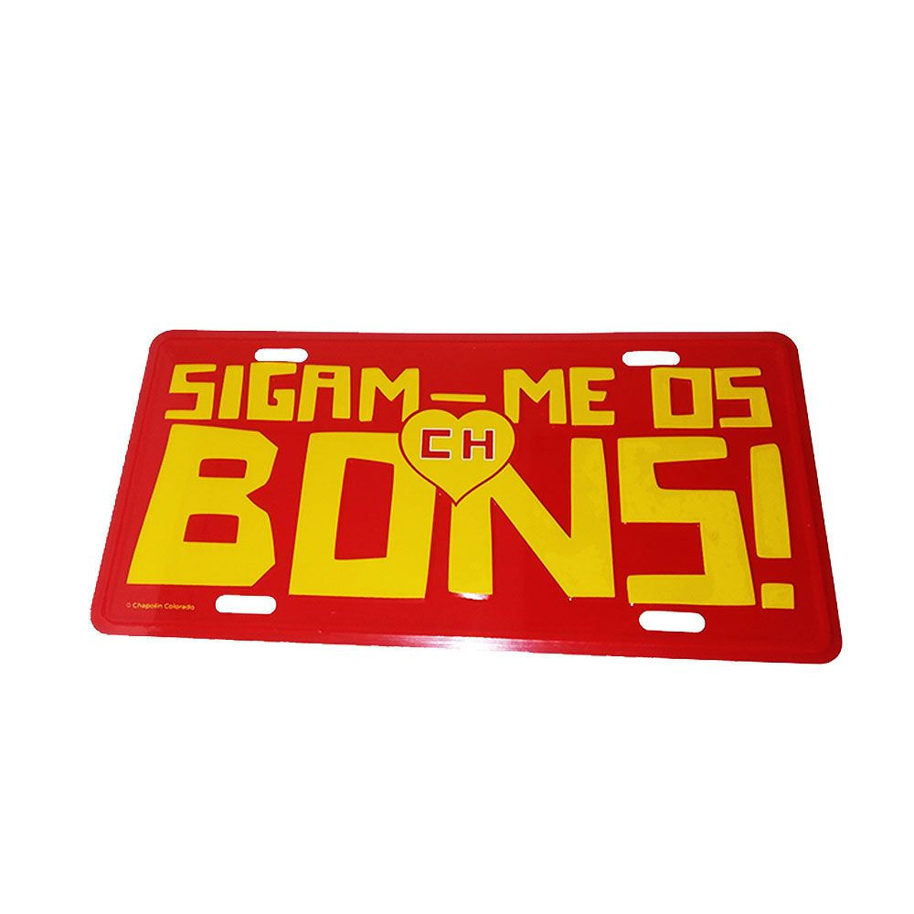 Placa Decorativa de Alumínio Chapolin Colorado - Sigam-me os Bons