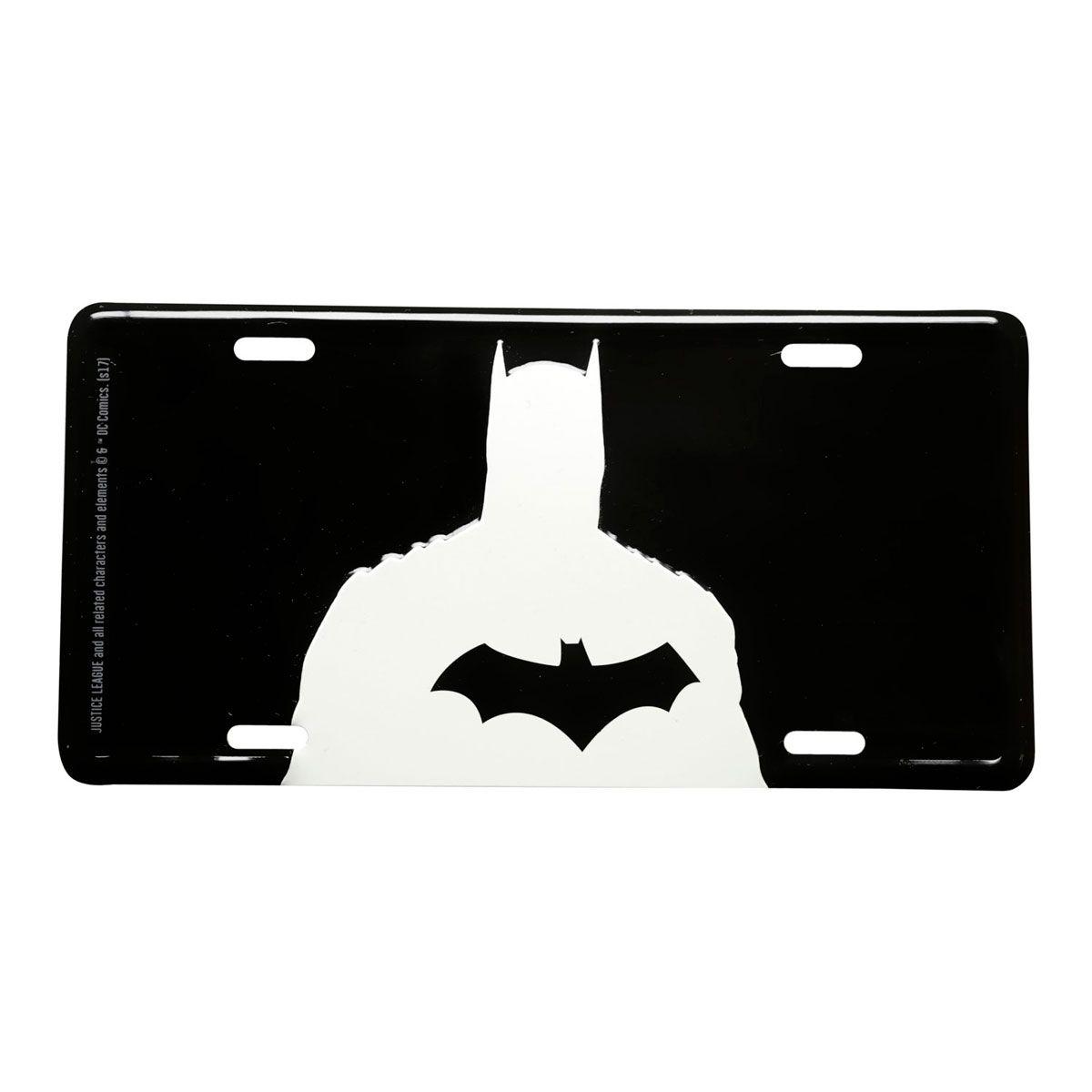 Placa Decorativa de Alumínio Batman Busto DC Comics