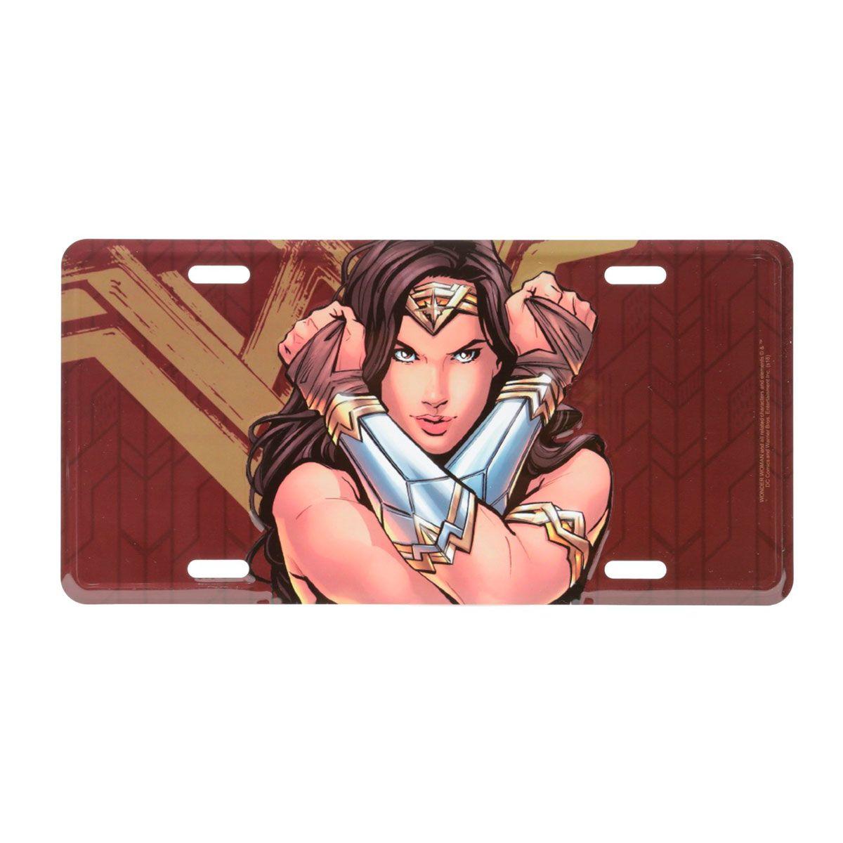 Placa Decorativa de Alumínio Mulher Maravilha Filme DC Comics