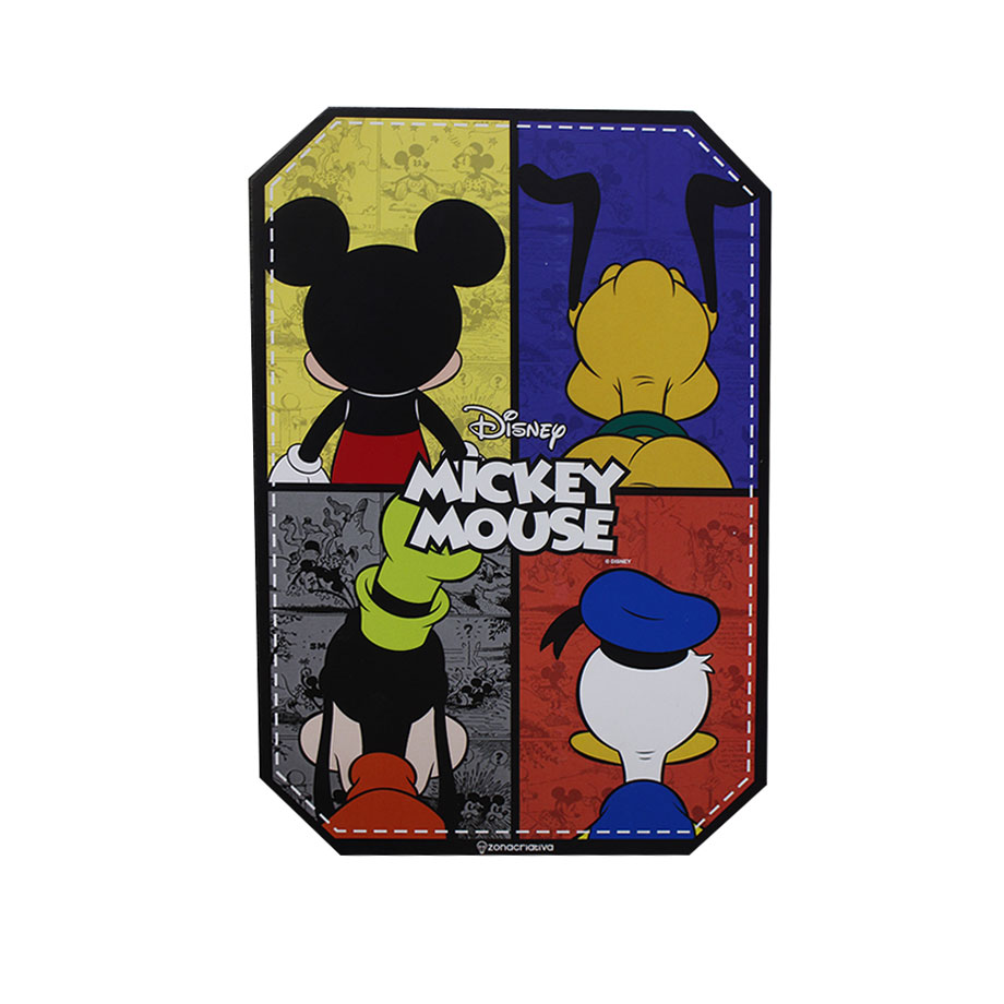 Placa Decorativa Mickey e Amigos