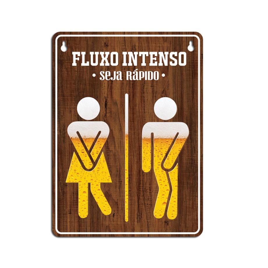 Placa Decorativa Para Banheiro Cerveja Fluxo Intenso