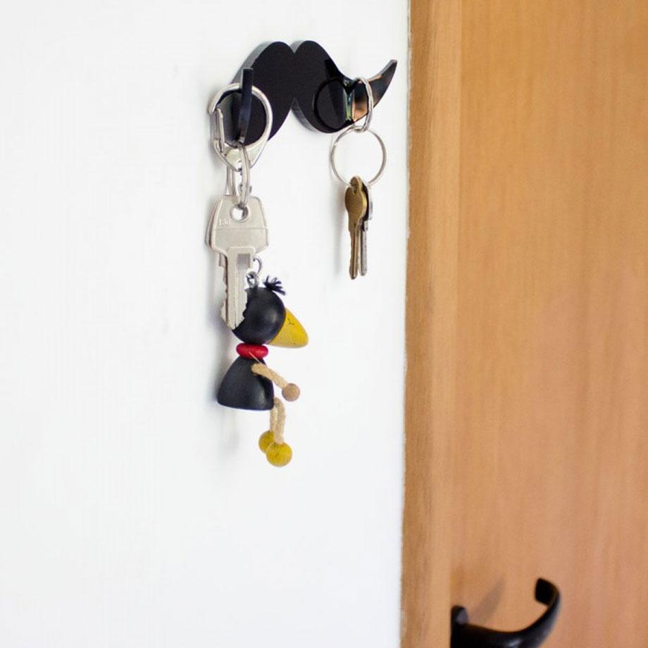 Porta Chaves Bigode - Conjunto com 3 Peças