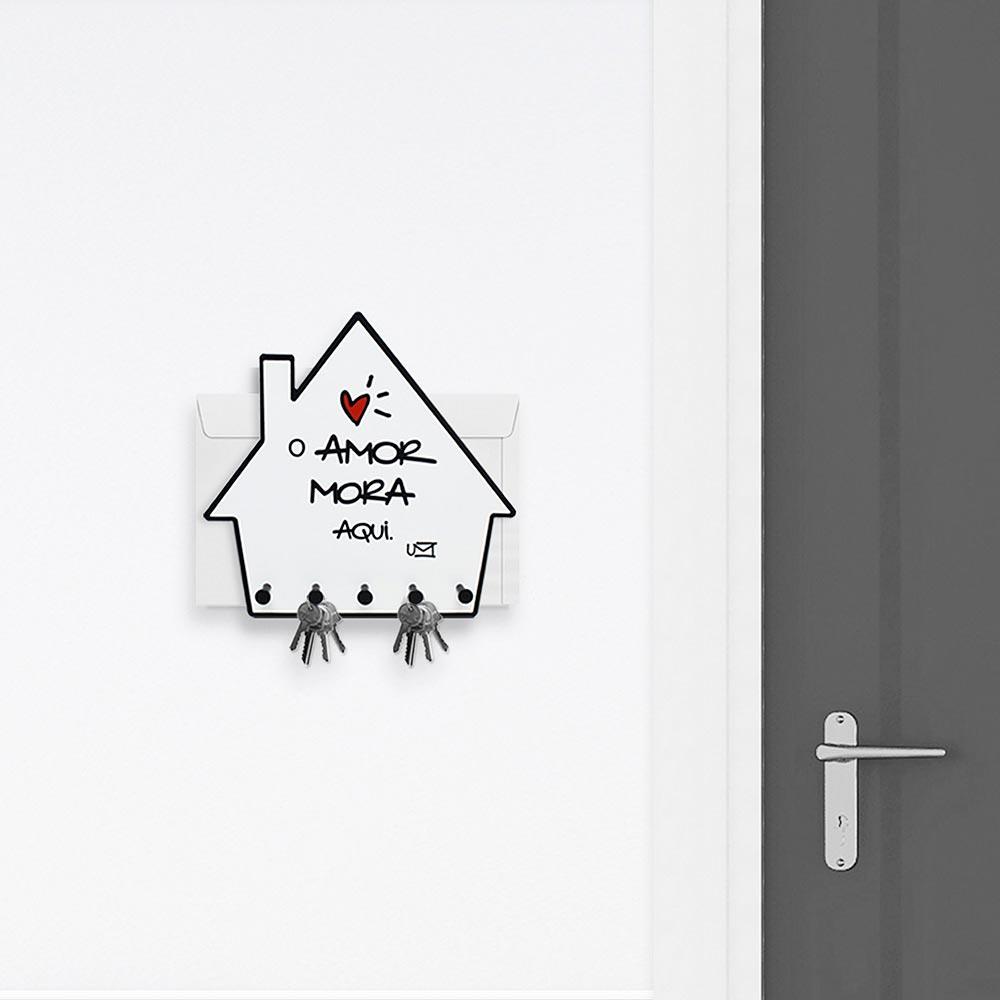 Porta Chaves e Cartas Casa - O Amor Mora Aqui