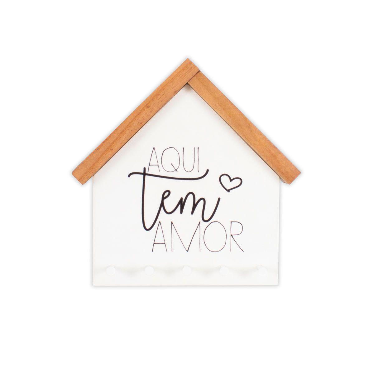 Porta Chaves e Cartas Casinha Aqui Tem Amor