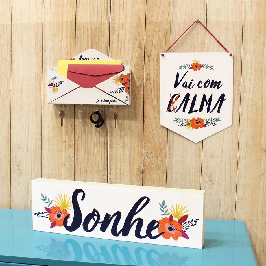Porta Chaves e Cartas - Floral