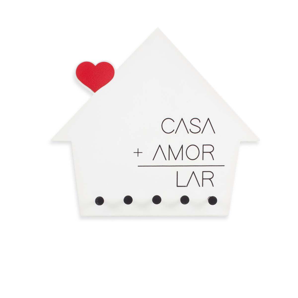 Porta Chaves e Cartas Lar é Casa com Amor
