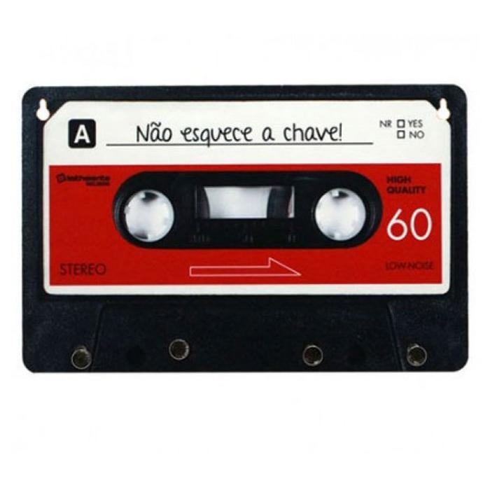 Porta Chaves Fita Cassete Retro - 3 Modelos De Cores