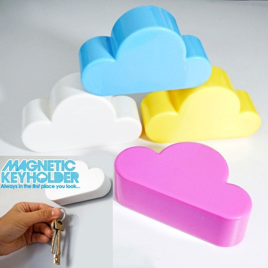 Porta Chaves Nuvem Magnetico Decorativo