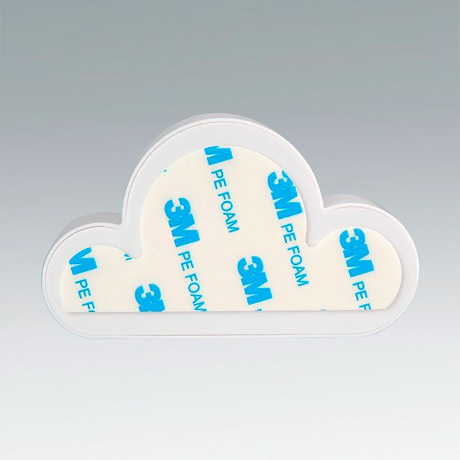 Porta Chaves Nuvem Magnetico Decorativo Branco