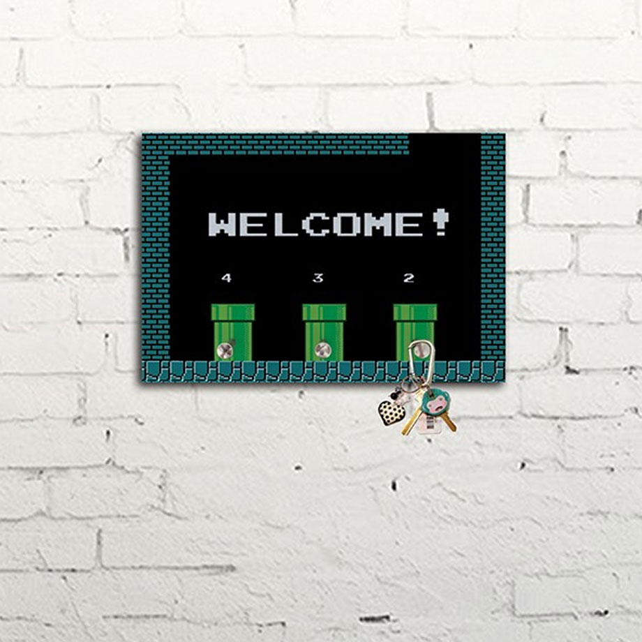 Porta Chaves Welcome! Gamer Pixel 8bits