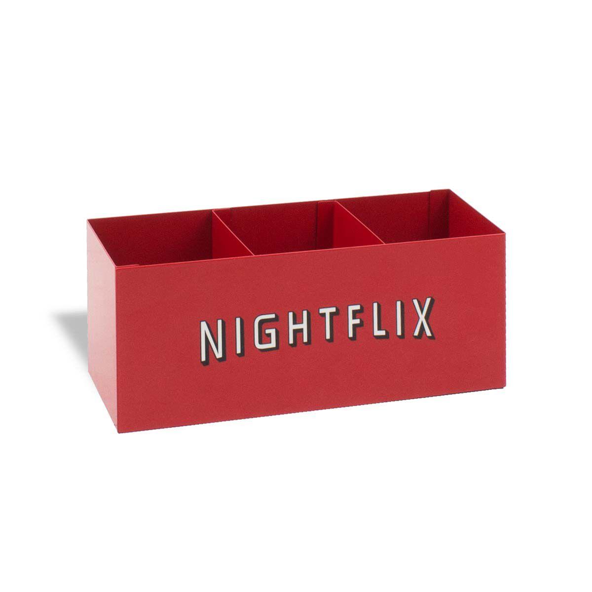 Porta Controle Remoto Nightflix Vermelho