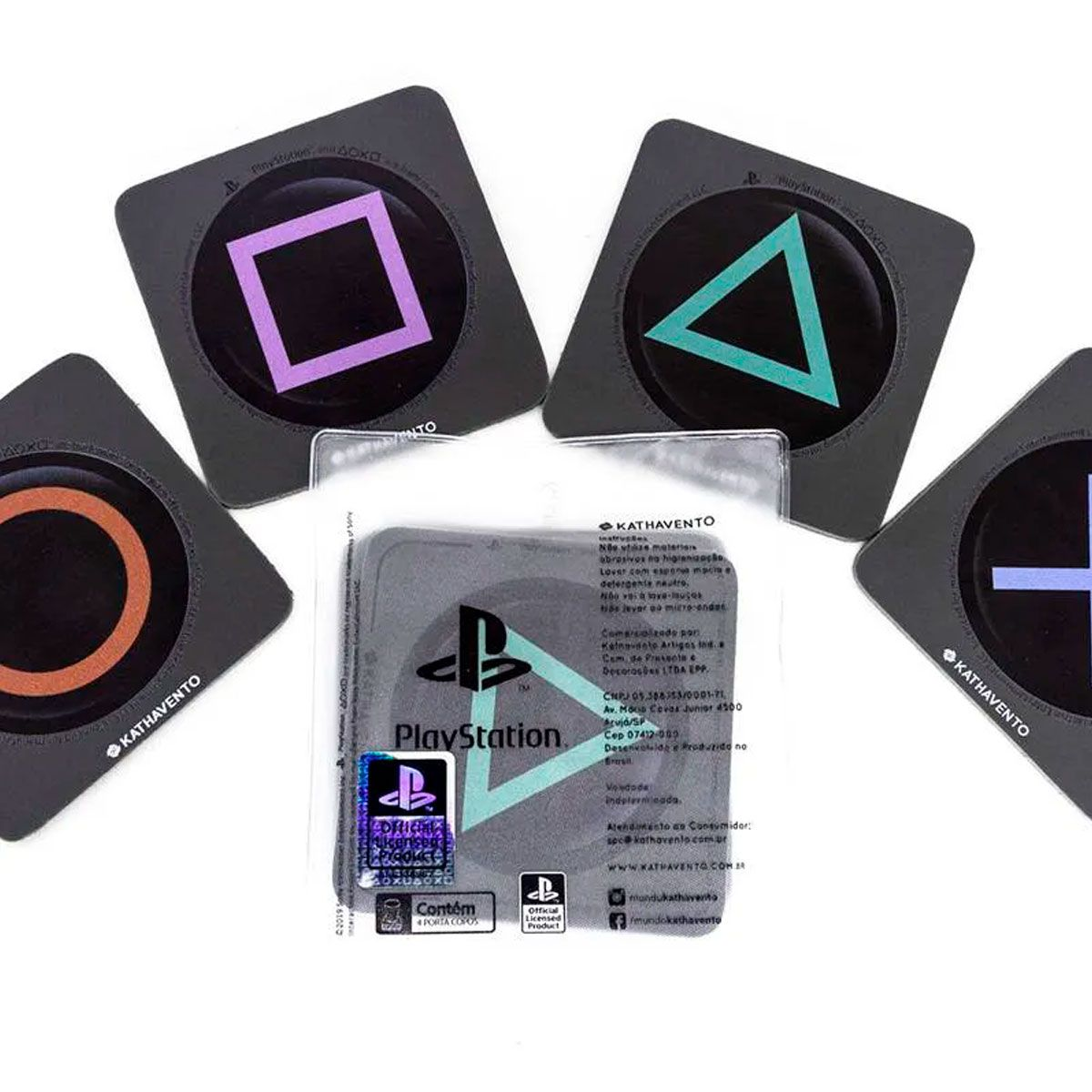 Porta Copos com 4 Unidades Playstation