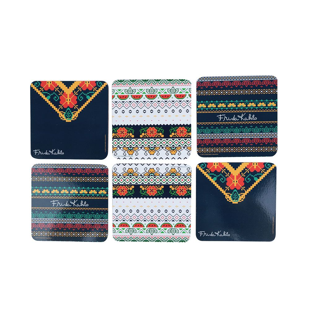 Porta Copos Frida Kahlo Pixel Bordado