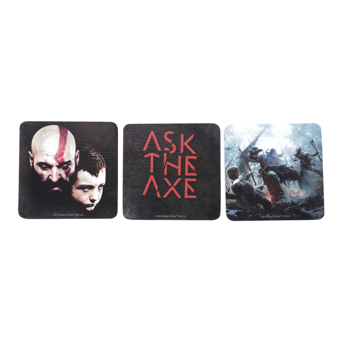 Porta Copos God Of War Kratos e Atreus Scenes