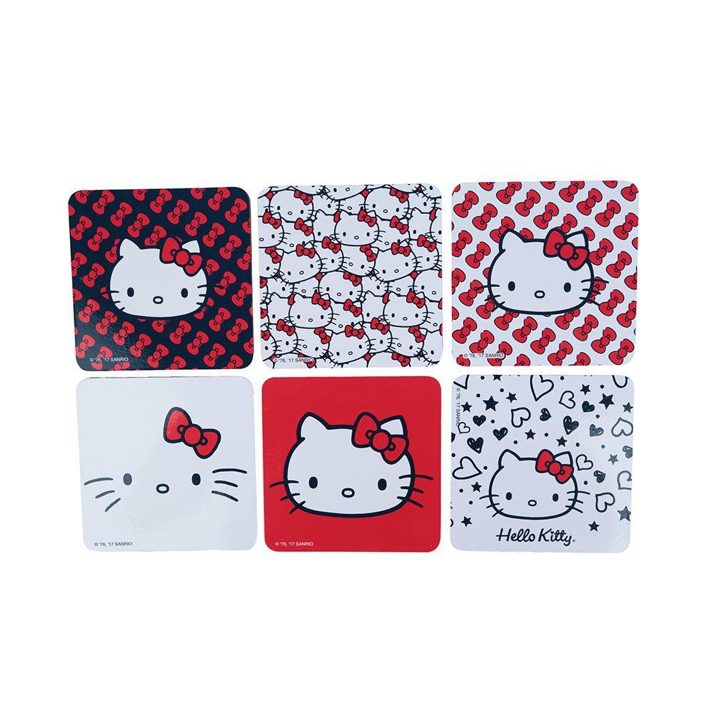 Porta Copos Hello Kitty Faces Colorido
