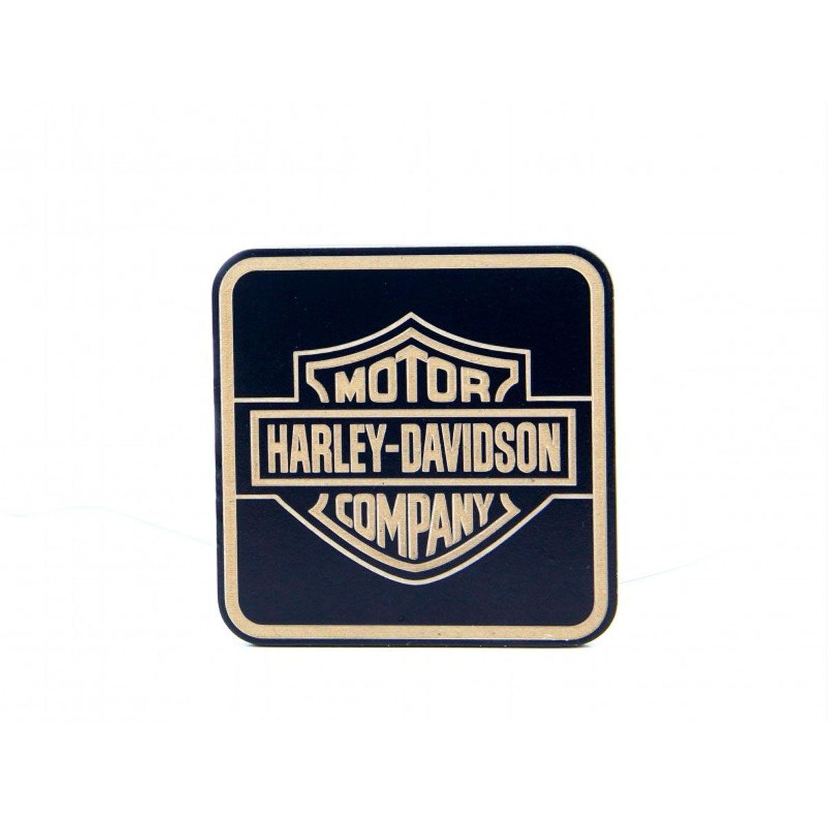 Porta Copos MDF com 6 unidades Harley Davidson