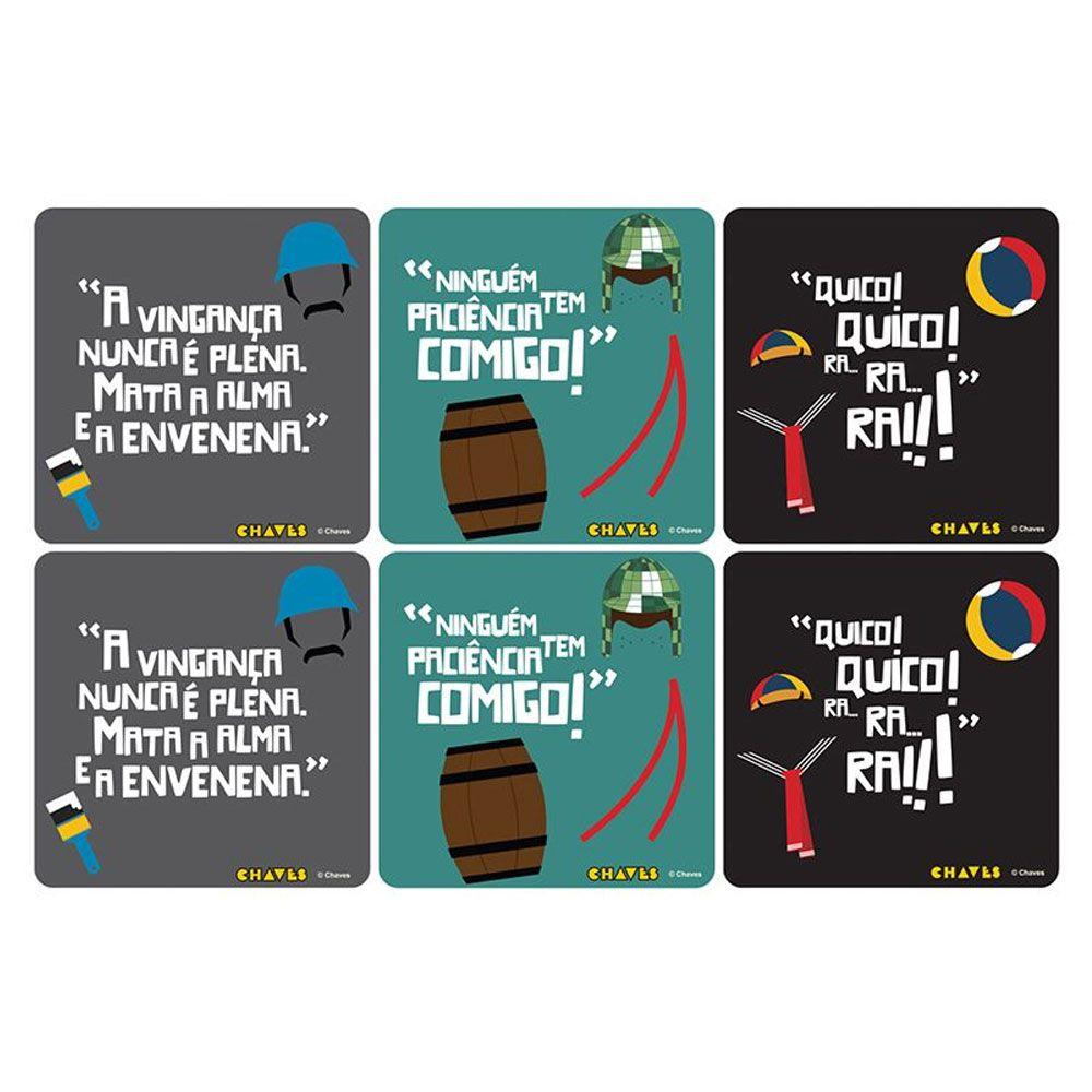 Porta Copos Turma do Chaves Frases