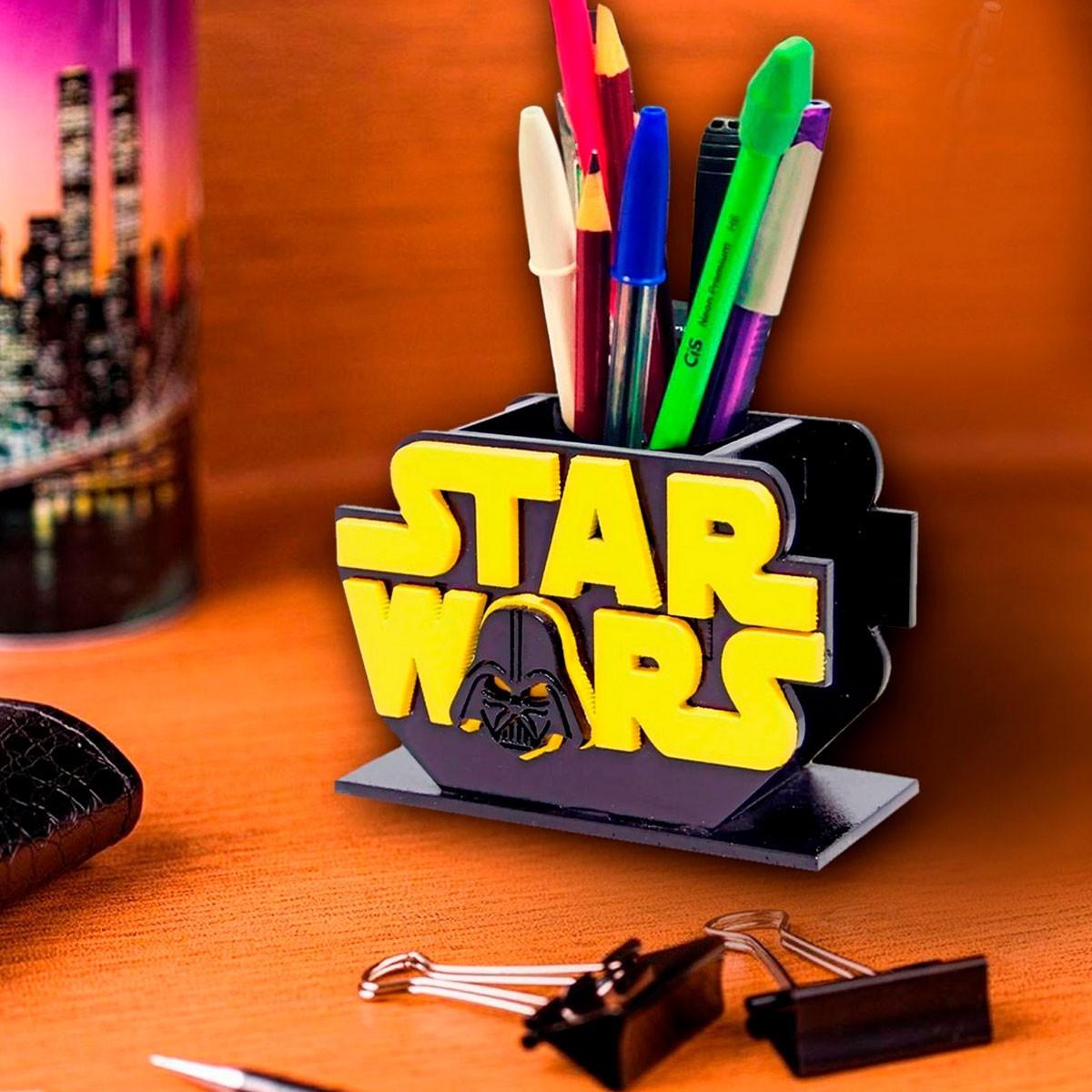 Porta Lápis Caneta E Acessórios Geek Star Wars Darth Vader 10x10cm