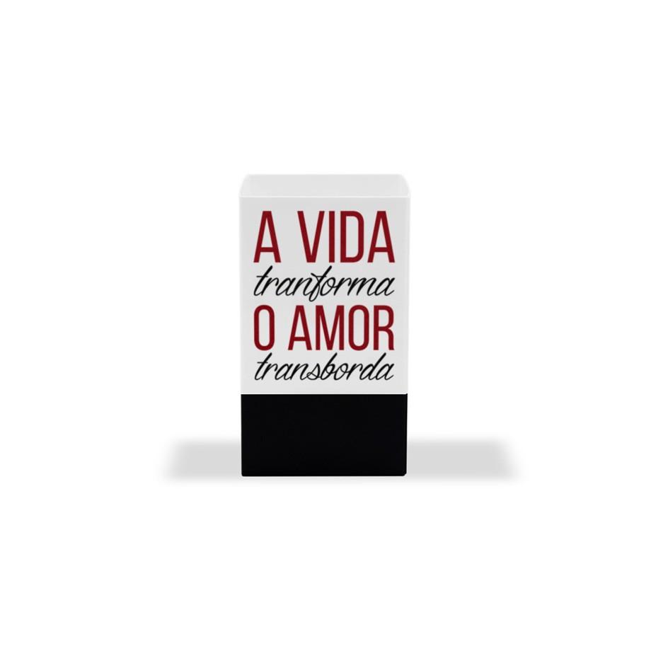 Porta Lápis e Clipes de Papel - Amor Transborda