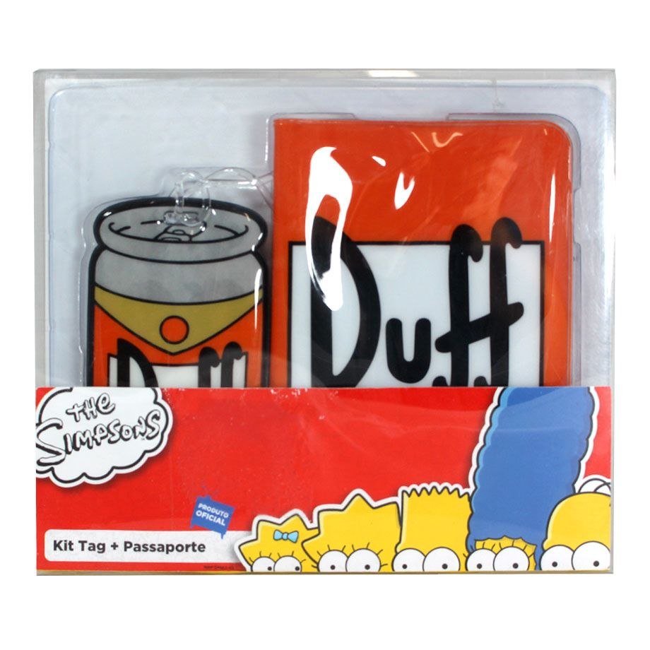 Porta Passaporte e Tag de Mala - Duff Beer - The Simpsons