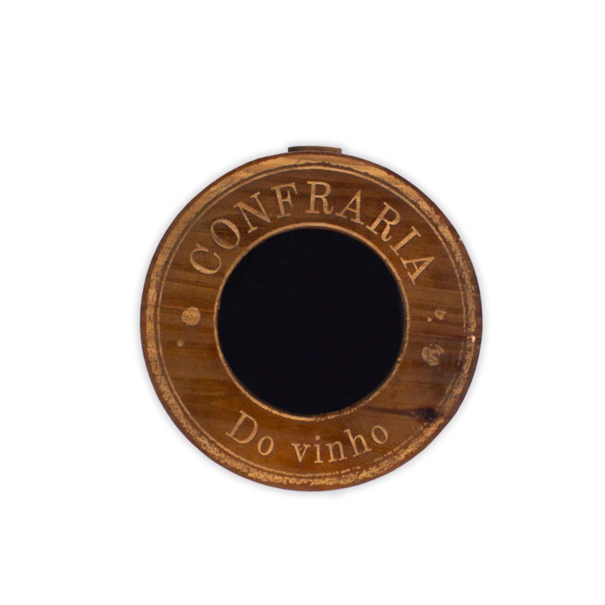 Porta Rolhas de Parede Redondo Confraria do Vinho