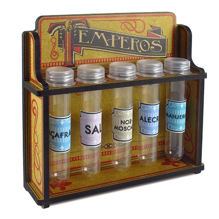 Porta Temperos Vintage - Tubos de Ensaio