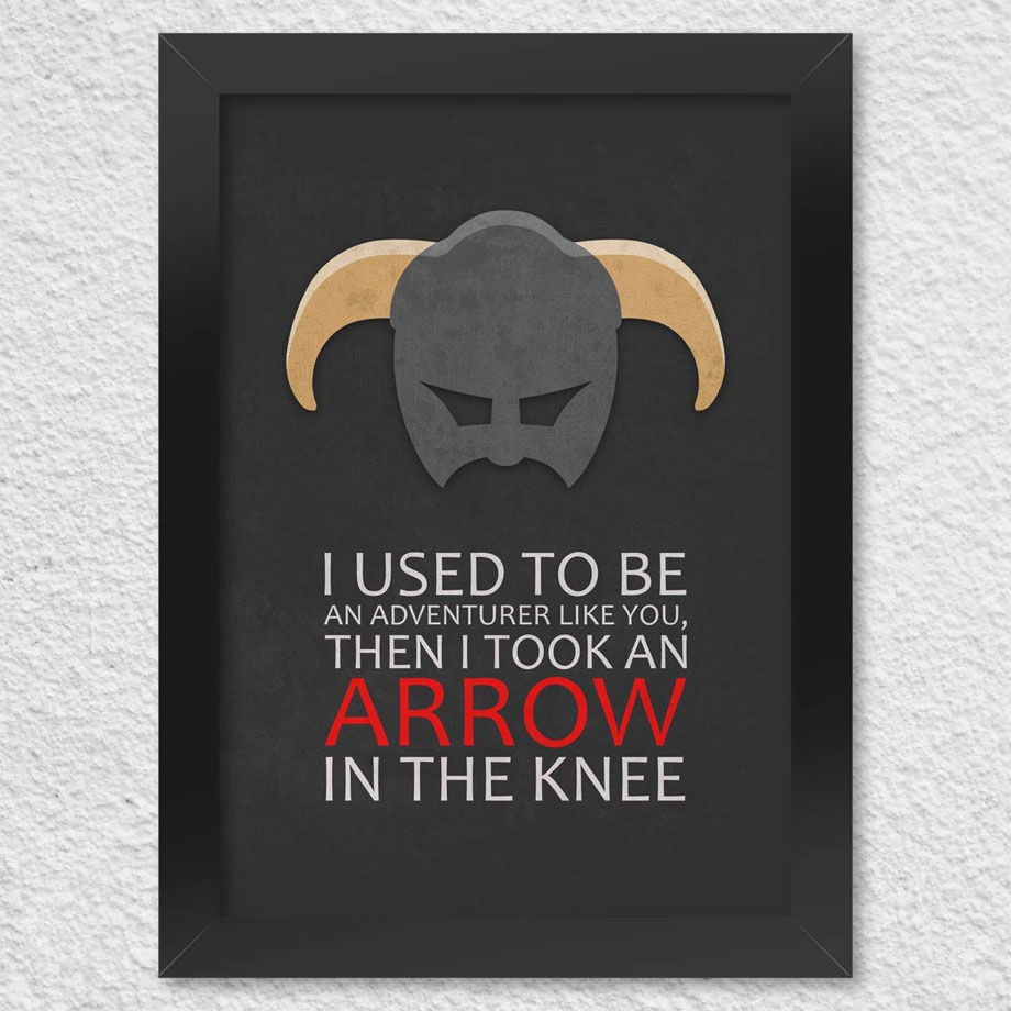 Poster com Moldura Gamer Arrow in The Knee