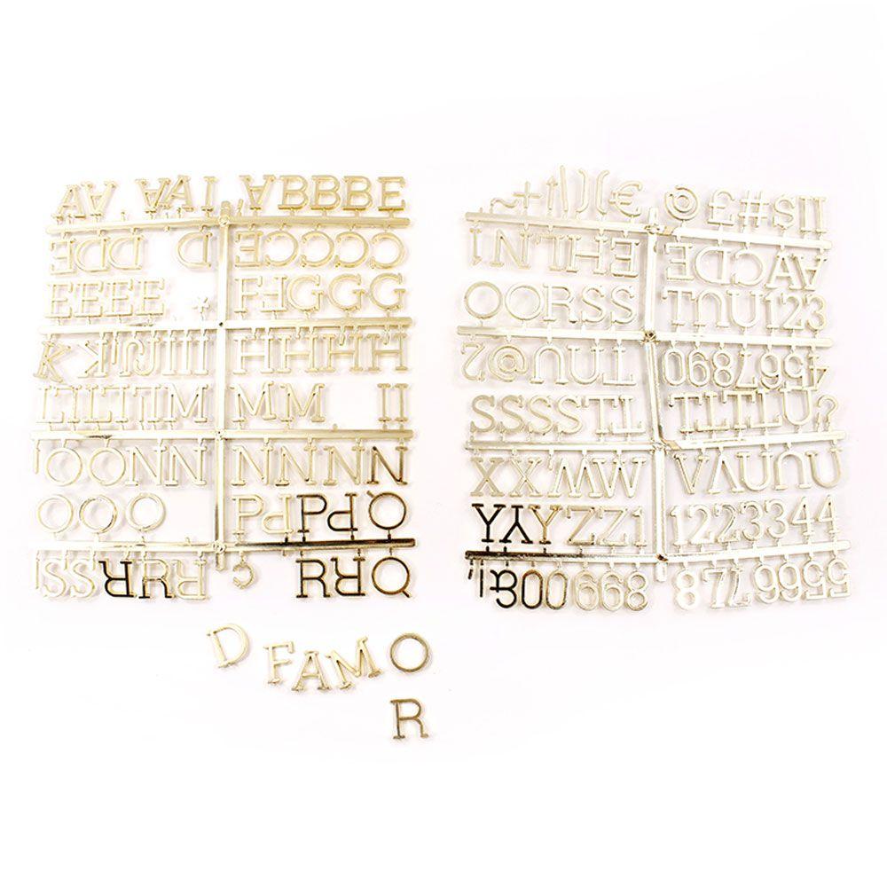 Quadro Alfabeto Letreiro Dourado 30x30cm