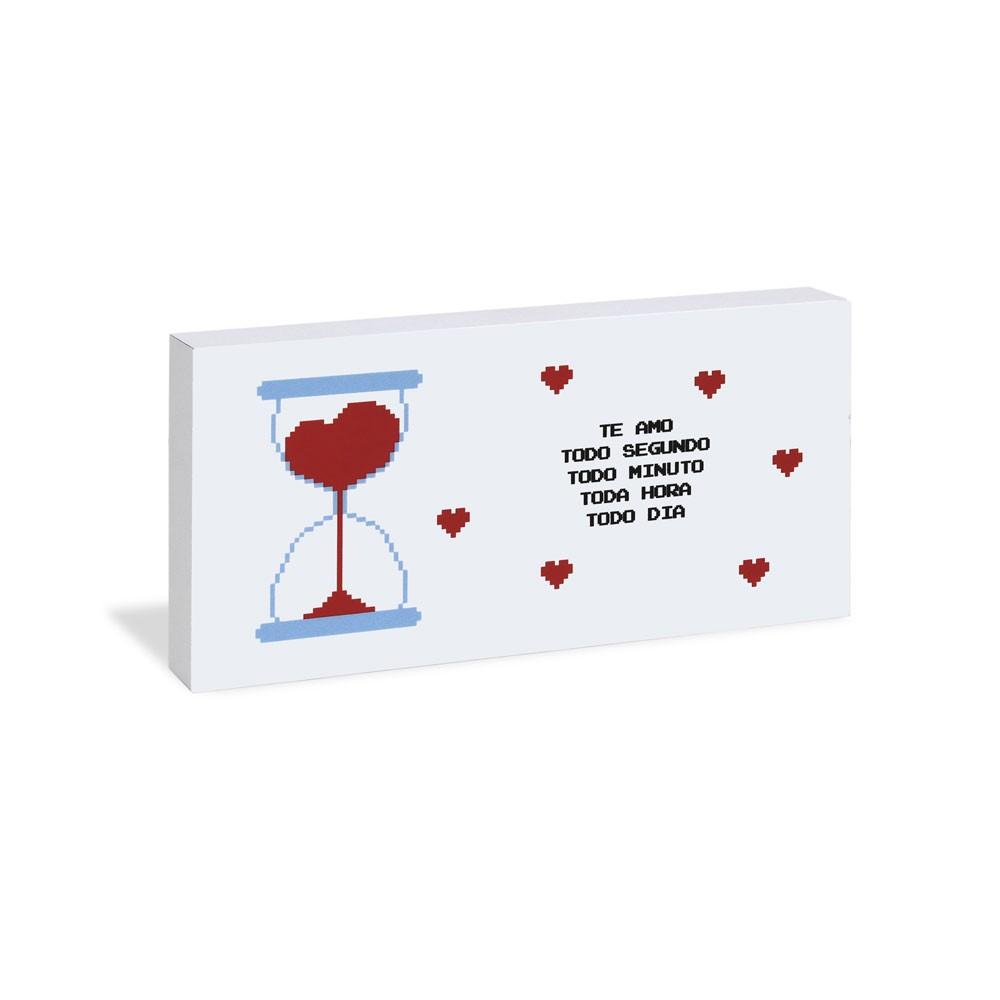 Quadro Bloco Cartão Recado - Te Amo