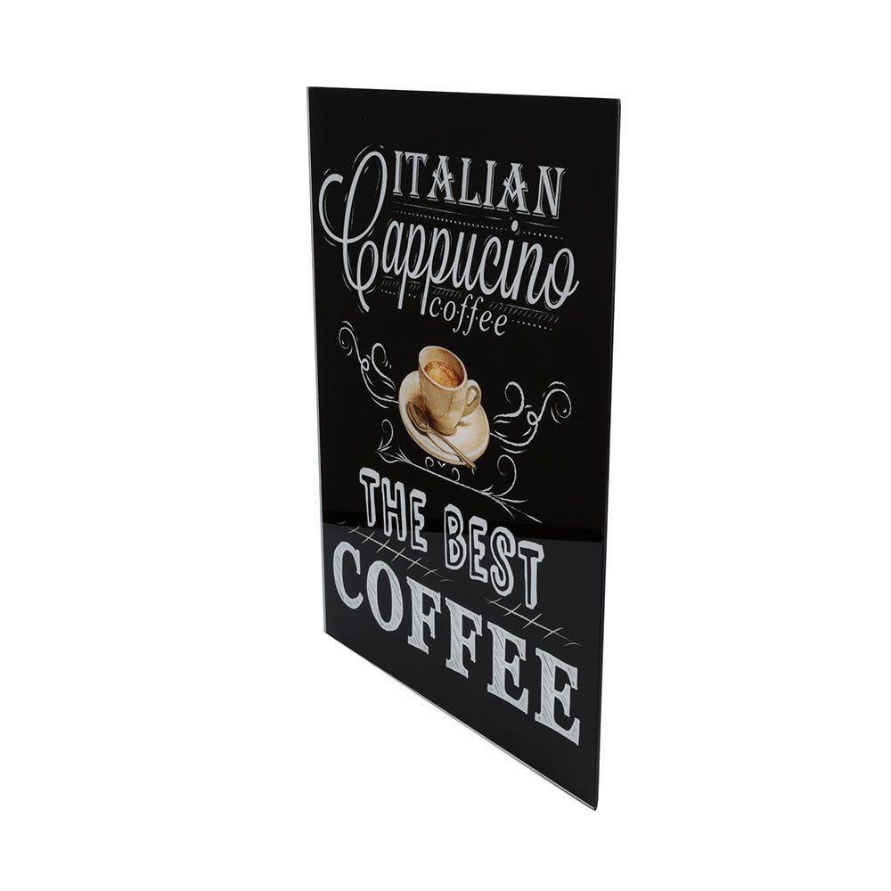 Quadro de Vidro Italian Cappuccino Coffee