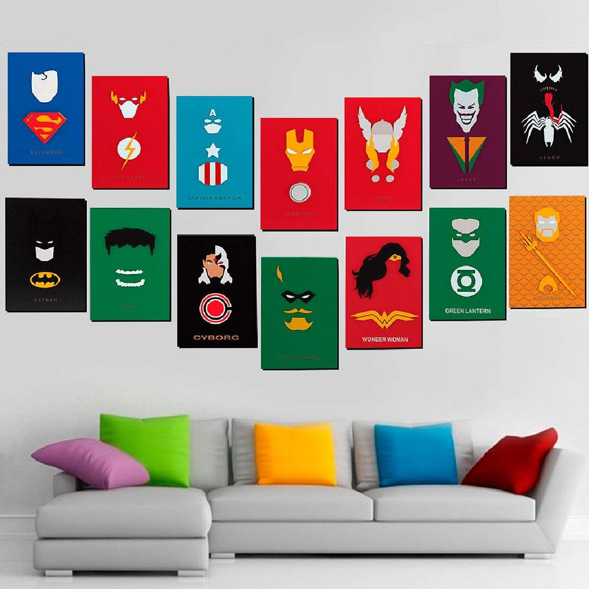 Quadro 3D Decorativo Capitão America Vingadores Marvel