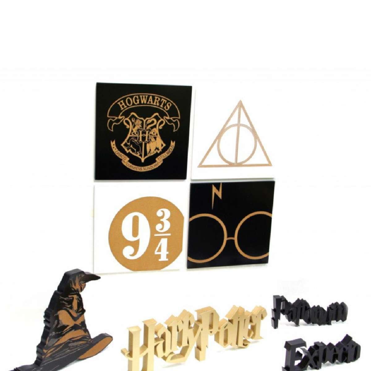 Quadro Decorativo Harry Potter Estação 9 3/4 MDF